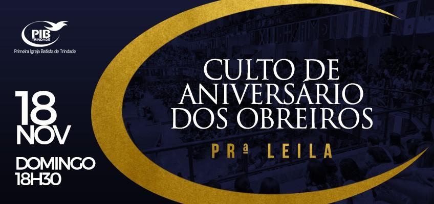 CULTO DE ANIVERSÁRIO DOS OBREIROS