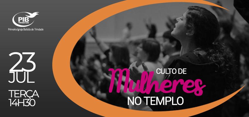 culto de mulheres no templo