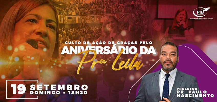 Aniversário pastora Leila